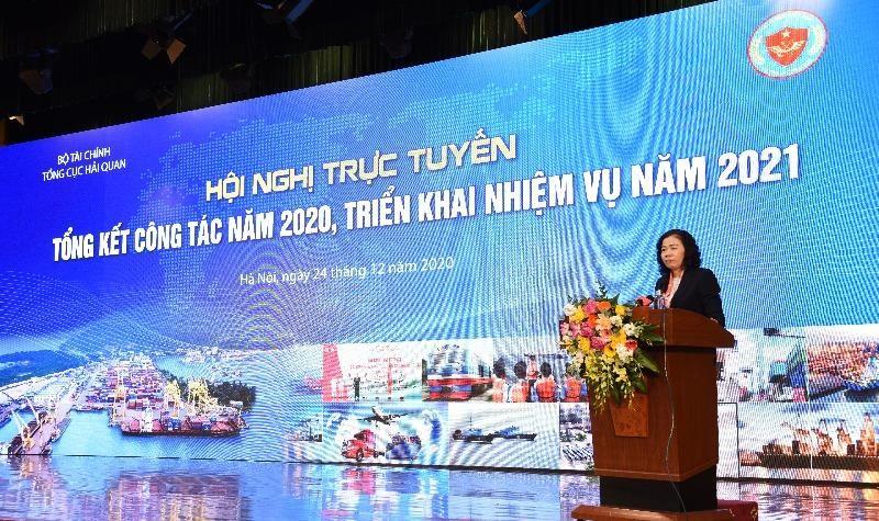 Thu ngân sách đạt 315.000 tỷ đồng, ngành Hải quan tổ chức Hội nghị trực tuyến triển khai công tác 2021