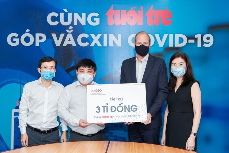 Diageo Việt Nam tài trợ 3 tỷ đồng giúp hàng chục ngàn người Việt tiêm chủng miễn phí