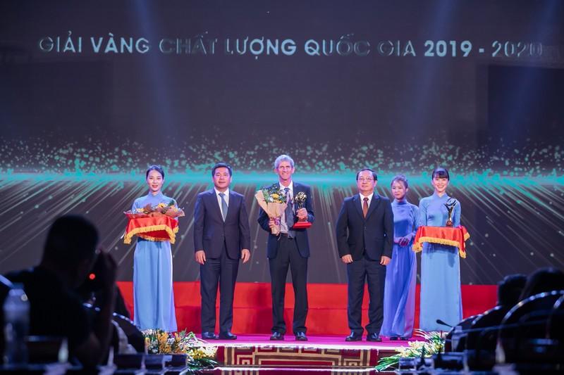 TH lần thứ ba đoạt giải Vàng Chất lượng quốc gia