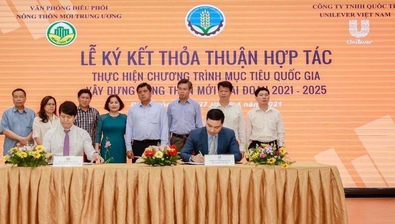 Unilever Việt Nam và Văn phòng Điều phối Nông thôn mới Trung ương ký thoả thuận hợp tác thực hiện Chương trình Mục tiêu Quốc gia xây dựng nông thôn mới