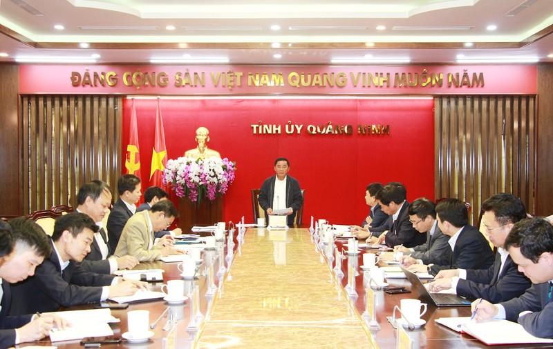Chủ nhiệm Ủy ban Kiểm tra Trung ương Trần Cẩm Tú ghi nhận tỉnh Quảng Ninh đã xử lý kịp thời các Đảng viên vi phạm