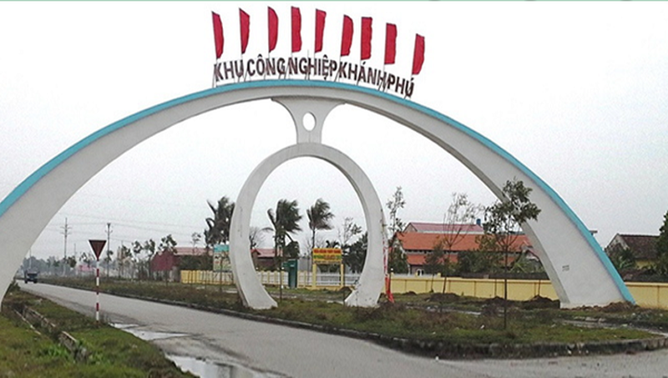 KCN Khánh Phú chưa hoàn thành các thủ tục pháp lý về PCCC.
