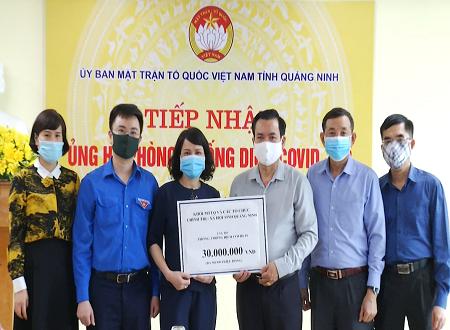 Quảng Ninh: Hơn 10 tỷ đồng và nhiều nhu yếu phẩm ủng hộ phòng, chống dịch Covid-19