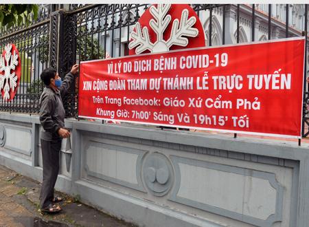 Quảng Ninh: Bà con giáo dân nhận thức rõ sự nguy hiểm của dịch Covid-19, tích cực thực hiện phòng dịch