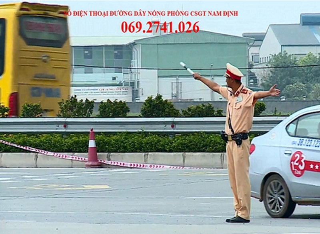 Số điện thoại đường dây nóng Phòng CSGT Đường bộ - Đường sắt, Công an tỉnh Nam Định