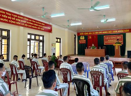 Quảng Ninh công bố quyết định giảm thời hạn chấp hành án phạt tù cho 22 phạm nhân