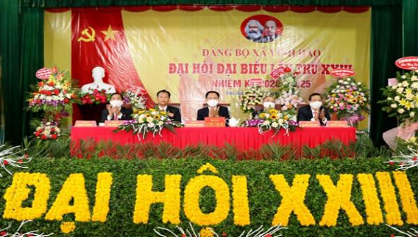 Đại hội đại biểu Đảng bộ xã Vĩnh Hào (huyện Vụ Bản) lần thứ XXIII đã tiến hành bầu Ban chấp hành Đảng bộ xã, nhiệm kỳ 2020-2025.