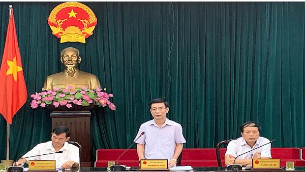 Chủ tịch Nam Định yêu cầu xử lý các vụ việc vi phạm liên quan đến đất đai