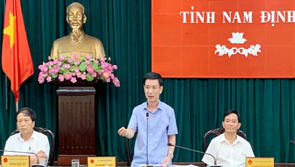 Chủ tịch Nam Định yêu cầu nâng cao trách nhiệm khi làm việc với người dân, doanh nghiệp