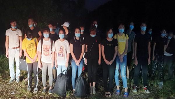 Bắt giữ thêm 29 người nhập cảnh trái phép vùng biên giới Quảng Ninh