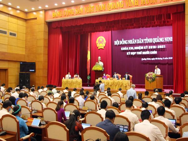 Quang cảnh Kỳ họp thứ 19, HĐND tỉnh Quảng Ninh khóa XIII.