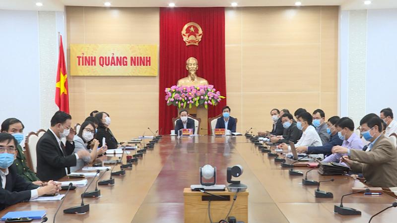 Các đại biểu tham dự hội nghị tại đầu cầu tỉnh Quảng Ninh.