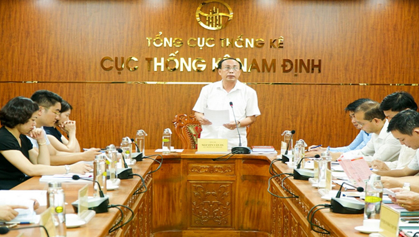 Cục thống kê tỉnh Nam Định họp triển khai nhiệm vụ Tổng điều tra kinh tế năm 2021.