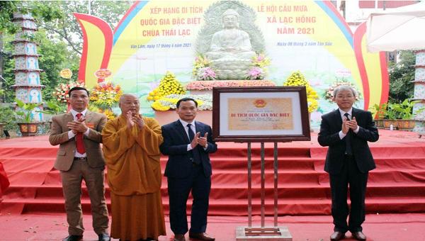Trao Bằng xếp hạng Di tích Quốc gia đặc biệt cho ngôi chùa có kiến trúc gỗ cổ nhất Việt Nam