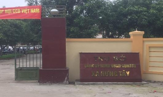 Trụ sở làm việc UBND xã Hưng Tây nơi ông Nguyễn Huy Đề công tác