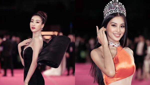 Tiểu Vy, Đỗ Mỹ Linh 'đọ' trang sức bạc tỷ trên thảm đỏ Chung kết Hoa hậu Việt Nam 2020