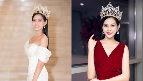 Hoa hậu Đỗ Thị Hà diện đồ thanh lịch sau đăng quang.