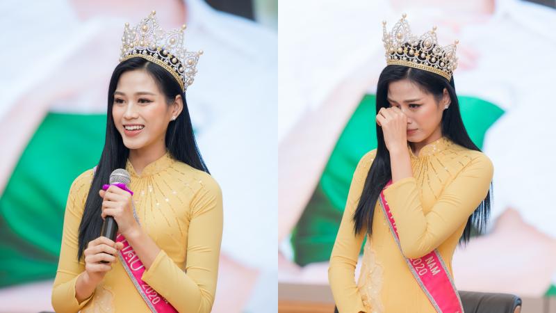 Hoa hậu Việt Nam Đỗ Thị Hà bật khóc ngày về trường Đại học