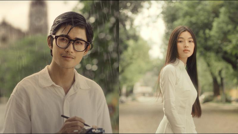 Hình ảnh đầu tiên của chàng Trịnh và nàng thơ Diễm Xưa trên màn ảnh.
