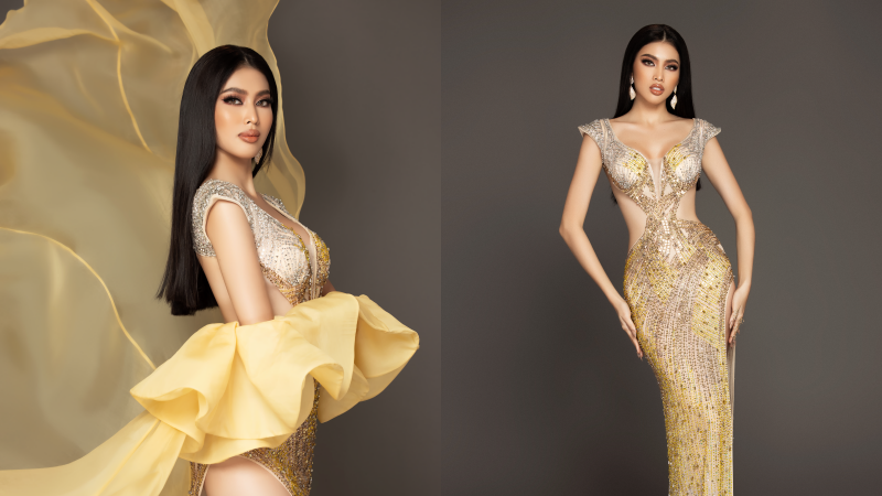 Á hậu Ngọc Thảo nổi bật tại họp báo Miss Grand International