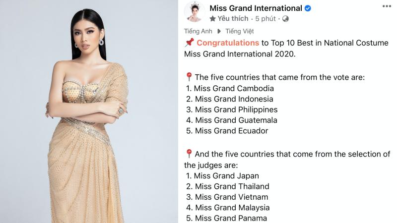 Á hậu Ngọc Thảo liên tiếp lọt vào top cao của Miss Grand International