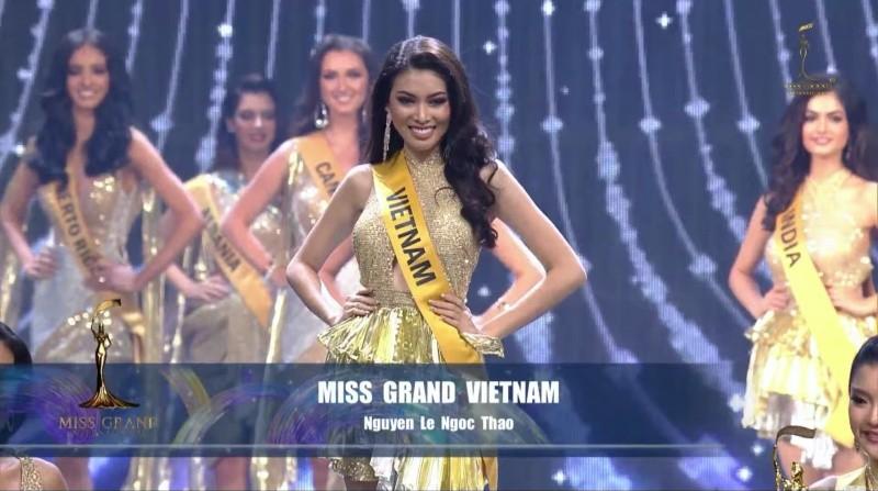 Ngọc Thảo dừng chân ở top 20 của Miss Grand International 2020.