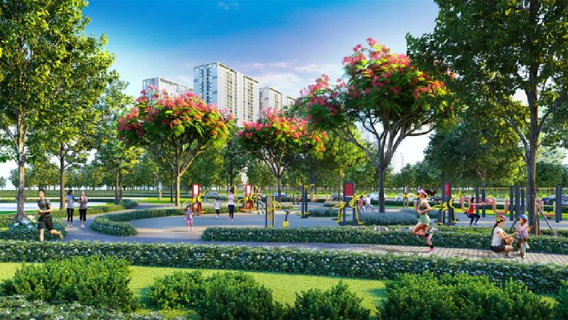 Cuộc sống trong lành, nhiều cây xanh ở các đô thị vệ tinh, vành đai xanh ven đô là lựa chọn của nhiều khách hàng.
