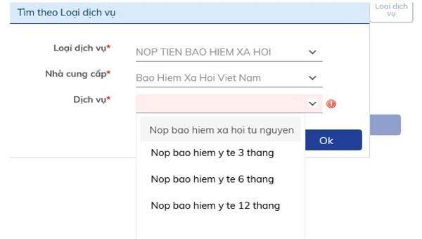 Cá nhân – đơn vị có thể nộp BHXH, BHYT, BHTN qua internet-banking của BIDV