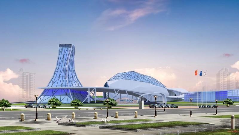 Một phối cảnh 3D của Viện Đào tạo Hàng không Bamboo Airways