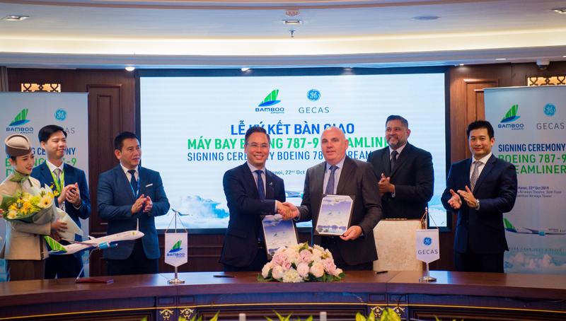 Bamboo Airways cùng đối tác GECAS chính thức ký nhận bàn giao hai máy bay Boeing 787-9 Dreamliner trong năm 2019