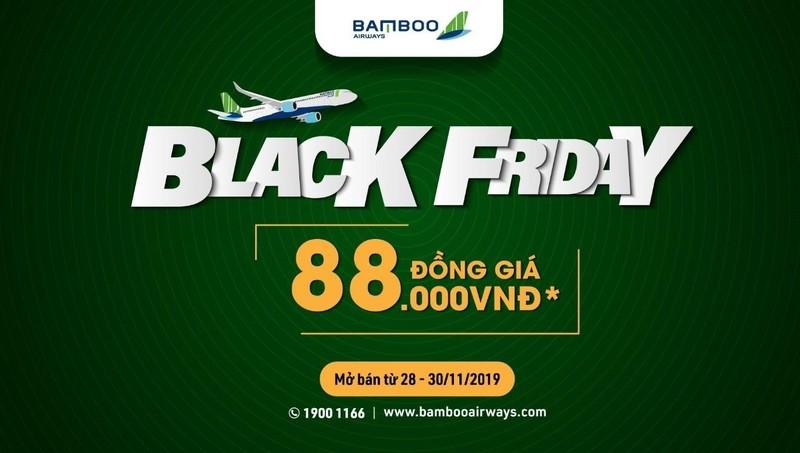 Bamboo Airways tung chương trình ưu đãi đồng giá nhân dịp Black Friday