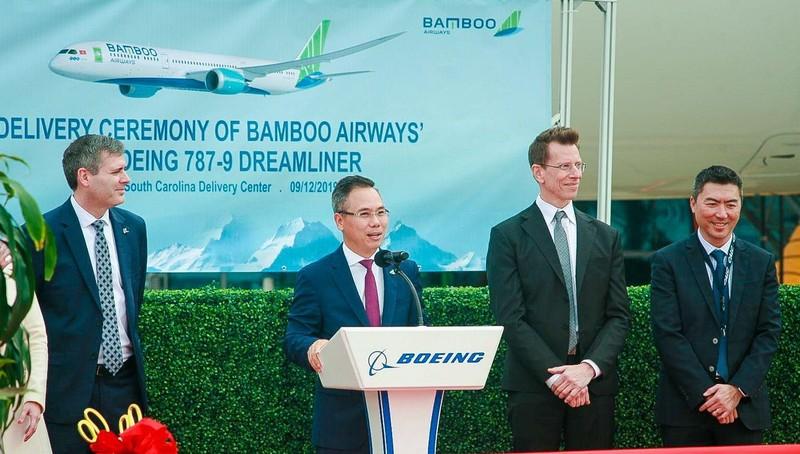 Máy bay Boeing 787-9 Dreamliner đầu tiên cất cánh về với đội bay của Bamboo Airways