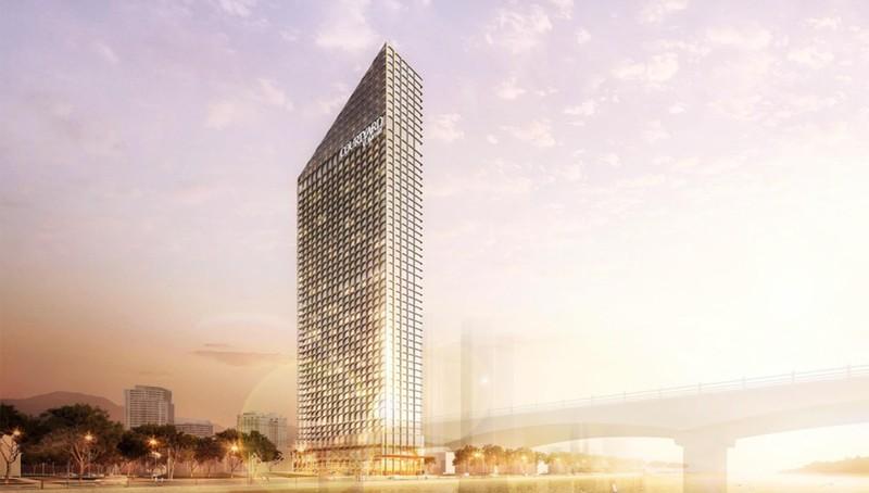 Marriott Courtyard hiện lên như một toà tháp hoa cương tráng lệ ngay trung tâm thành phố đáng sống nhất Việt Nam