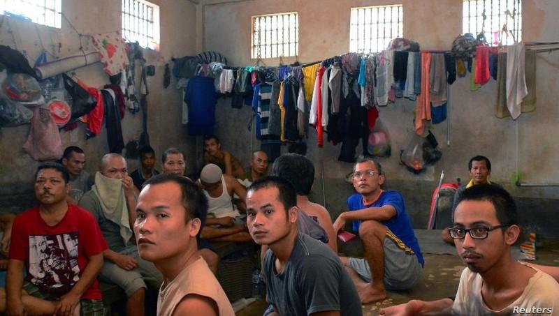 Hình ảnh tù nhân tại một nhà tù ở Indonesia.