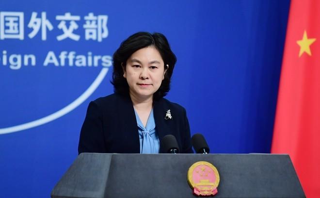 Người phát ngôn của Bộ Ngoại giao Trung Quốc Hoa Xuân Oánh.