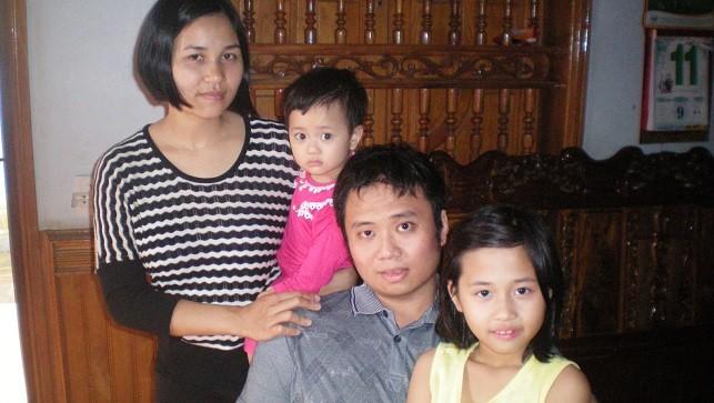 Mái ấm của gia đình anh Lê Hữu Tuấn.