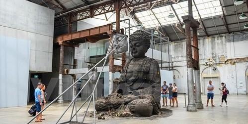 Tượng Phật Sydney khổng lồ làm từ 20 tấn tro hương. Ảnh: Quang Minh/Vietnamplus