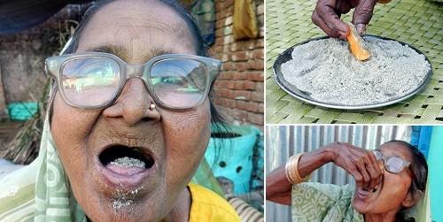 Cụ bà ăn một kg cát mỗi ngày trong hơn 80 năm