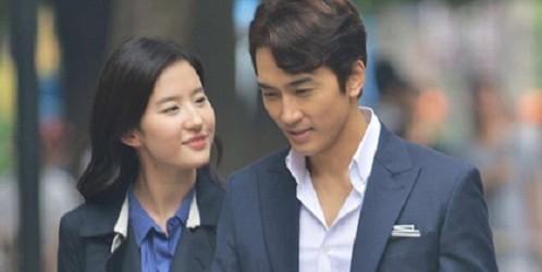 Lưu Diệc Phi và Song Seung Hun trong phim.
