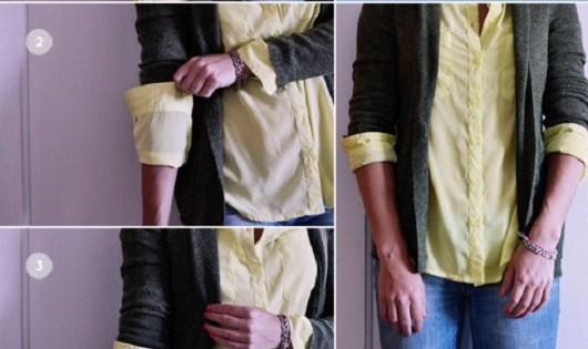 5 cách xắn tay áo đẹp và đơn giản cho nữ