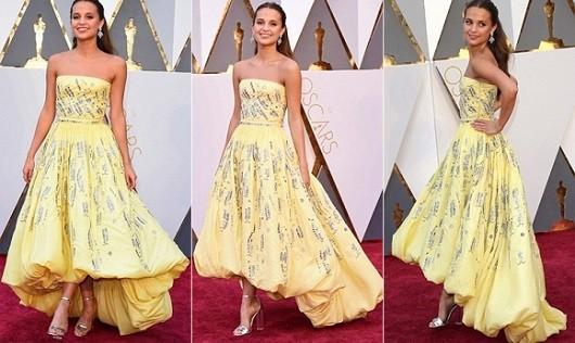 Choáng với những bộ đầm triệu USD của sao trên thảm đỏ Oscar