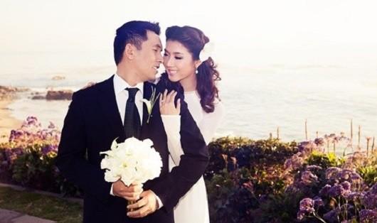 Ảnh cưới của Ngọc Quyên  và người chồng làm bác sĩ.