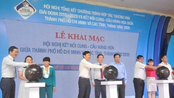 Lễ khai mạc Hội nghị kết nối cung cầu hàng hóa giữa TP HCM và các tỉnh, thành năm 2020 diễn ra sáng 24/9.
