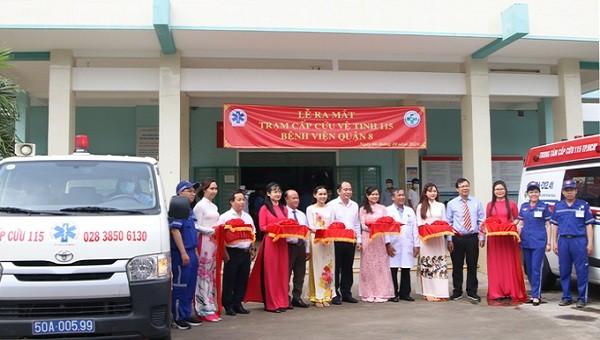 Lễ ra mắt trạm cấp cứu vệ tinh 115 Bệnh viện Quận 8.