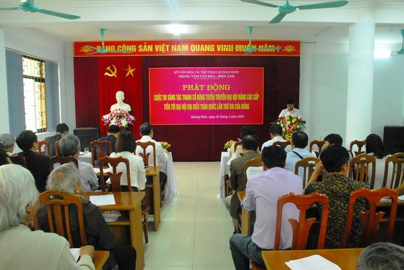 Quảng Ninh phát động sáng tác tranh cổ động tuyên truyền về đại hội Đảng các cấp
