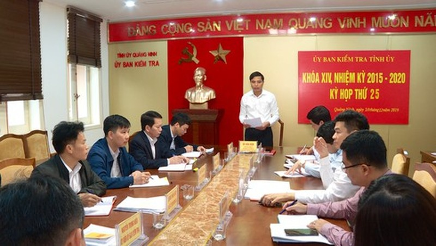 Ủy ban Kiểm tra Tỉnh ủy Quảng Ninh đã nghe và cho ý kiến về nội dung xử lý đảng viên có dấu hiệu vi phạm tại Đảng ủy phường Quang Trung, TP Uông Bí.
