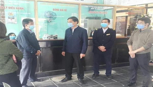 Lãnh đạo TP Hạ Long (Quảng Ninh) kiểm tra công tác phòng chống dịch tại bến xe, nhà hàng, khách sạn.