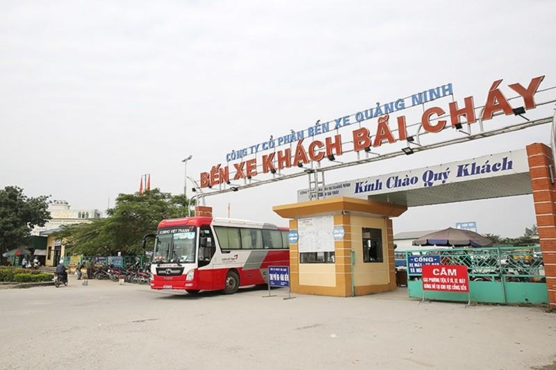 Quảng Ninh dừng tuyến vận tải hành khách cố định đến/đi các địa phương có dịch