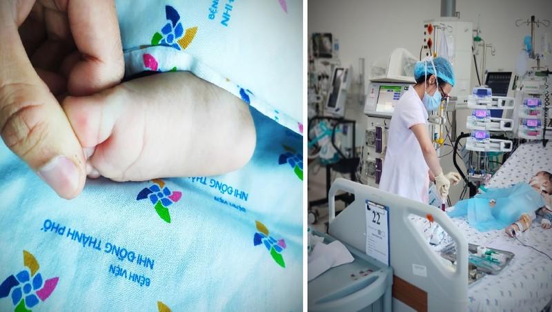 Bệnh nhi 6 tháng tuổi bị tay chân miệng phải lọc máu gấp