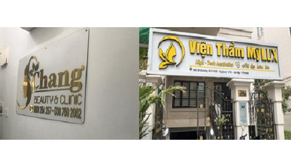 2 cơ sở thẩm mỹ hoạt động không phép tại TP HCM. Ảnh: Sở Y tế TP HCM